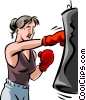 Vector Clipart graphic  of a Boxers and Fighters