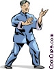 Vector Clip Art graphic  of a Tai Chi