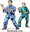 Vector Clipart graphic  of a Tai Chi