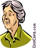 Vector Clipart graphic  of a Senior Citizens