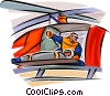 Vector Clipart graphic  of a Emergency Rescue and Relief