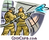 Vector Clip Art picture  of a Firemen