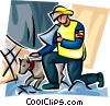 Firemen Vector Clip Art graphic