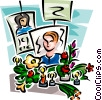 Vector Clip Art picture  of a pictures of loved ones lost