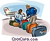 Vector Clip Art picture  of an Airport Terminals