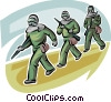 Vector Clipart picture  of a Officers of the Law and Police