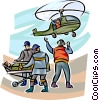 Vector Clip Art graphic  of a Emergency Rescue and Relief