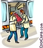 Emergency Rescue and Relief Services Vector Clipart illustration