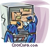 Vector Clip Art graphic  of a Officers of the Law and Police