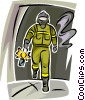 Firemen Vector Clipart illustration