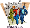 Vector Clip Art image  of a Emergency Rescue and Relief