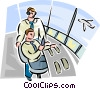 Vector Clipart graphic  of an Airport Terminals