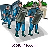 Vector Clip Art image  of a Officers of the Law and Police