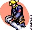 Firemen Vector Clip Art graphic