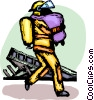 Firemen Vector Clipart graphic
