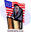 Independence Day President giving speech Vector Clipart picture