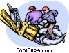 Vector Clipart picture  of a Emergency Rescue and Relief