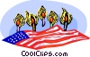 Vector Clipart picture  of a candle light vigil for the