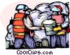 Vector Clipart illustration  of a Emergency Rescue and Relief