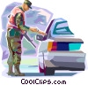 Officers of the Law and Police Vector Clipart illustration