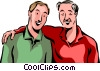 Father and son Vector Clipart image