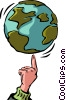 Vector Clipart image  of a Hands Working