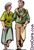 Vector Clipart illustration  of a Couples and Romance