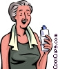 Vector Clip Art image  of a Cooling Off