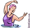 Vector Clipart image  of a Swimming