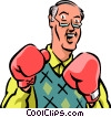 Boxers and Fighters Vector Clip Art graphic