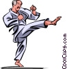 Vector Clip Art graphic  of a Karate