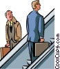 Vector Clipart illustration  of a man rising up the corporate