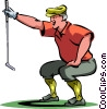 Vector Clip Art image  of a Golf