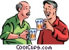 Senior Citizens having a beer Vector Clip Art picture