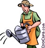 Vector Clipart image  of a Gardeners