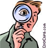 Investigation and Research Vector Clipart graphic