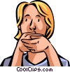 speak no evil Vector Clipart picture