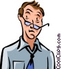 Vector Clipart illustration  of a Frustration