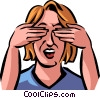 Vector Clipart graphic  of a see no evil