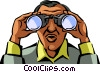 Vector Clipart picture  of a Binoculars