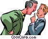 Vector Clip Art graphic  of a Conflict