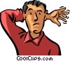 Vector Clip Art image  of a Indifference