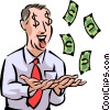 Vector Clip Art image  of a Financial Success