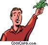 Vector Clipart picture  of a Financial Success