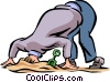 Embarrassment Vector Clip Art image