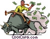 Vector Clipart picture  of a Investment and Stock Market