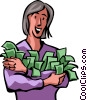 Financial Success Vector Clipart image