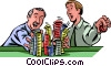 Vector Clip Art graphic  of a Poker and Poker Chips