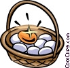 Vector Clip Art graphic  of a Nest Eggs