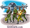 Vector Clip Art image  of an Airforce